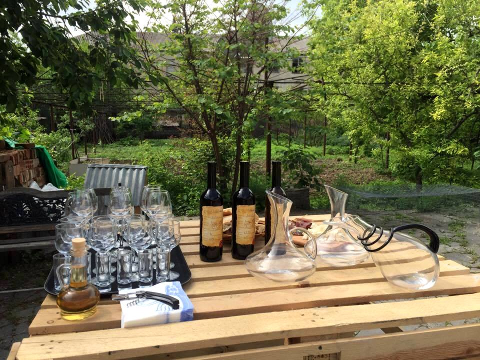 Wine-tasting directly at their garden!
