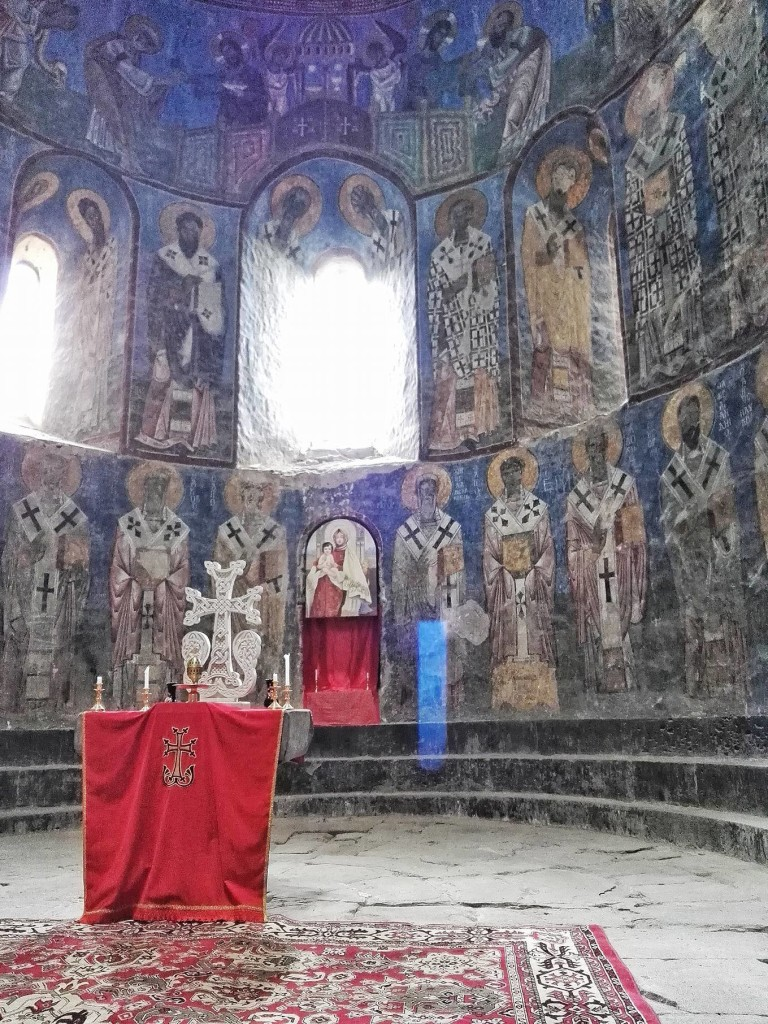 The stunning original frescoes at Akhtala Monastery- like the Virgin Mary, the LAst Supper, Last Judgement, Crucifixion and Resurrection, are what makes it special (Photo by Cheryl Tiu)