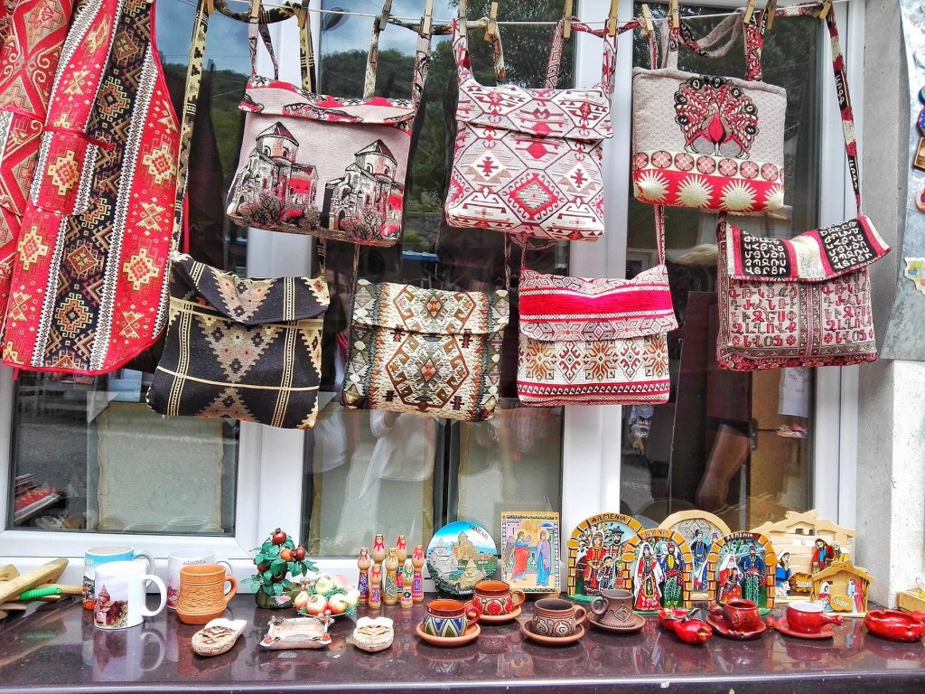 Armenian souvenirs by Sanahin monastery-- our first stop. I suggest buy them all here-- they have a little of everything, and have the most selection. (Photo by Cheryl Tiu)