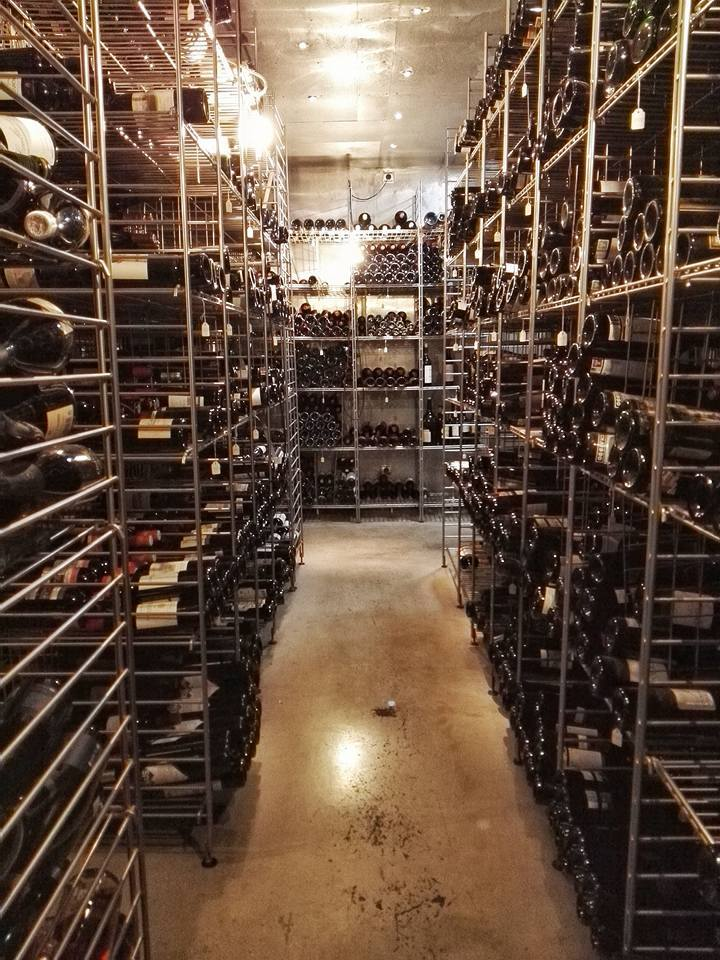 The Arzak wine cellar with over 100,000 wines! They have their own Arzak label, too. (Photo by Cheryl Tiu)