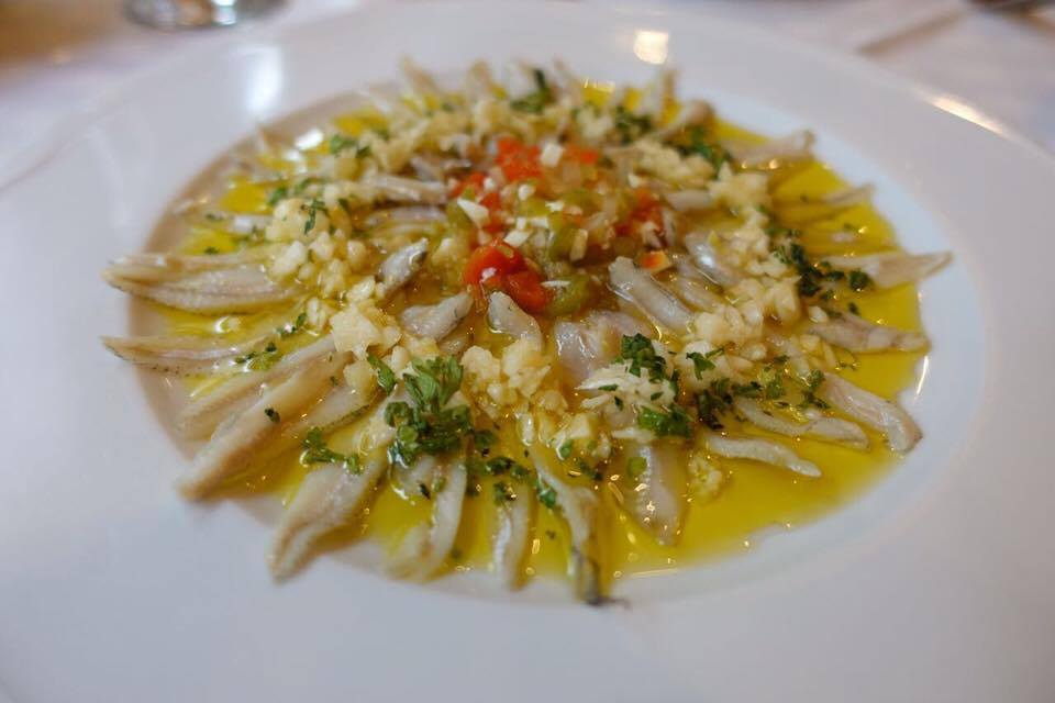 Boquerones: fresh anchovies marinated in garlic, vinegar and extra virgin olive oil (Photo by Jin Perez)
