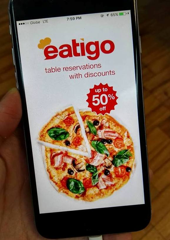 Eatigo is a free app that allows you to book at your favorite restaurants at up to 50% off the price!!!