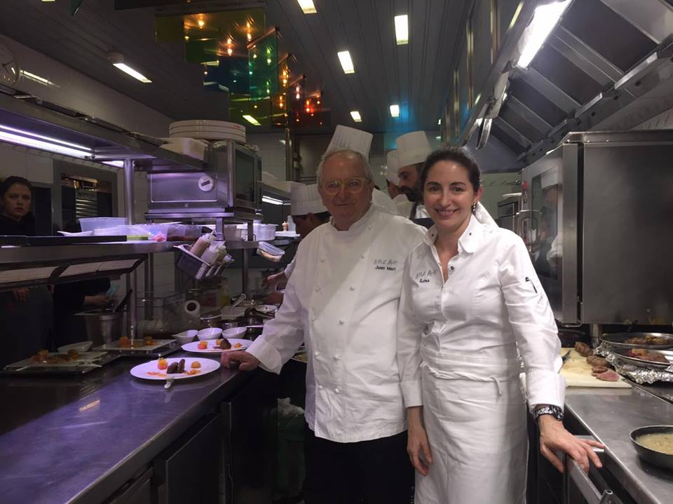 The incredible father-and-daughter tandem at Arzak: Juan Mari and Elena in the kitchen (Photo by Cheryl Tiu)