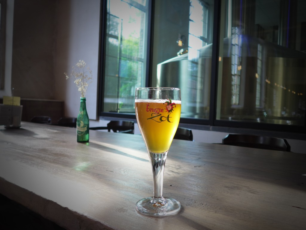 Most people will tell you to go to Brouwerij De Halve Maan when you're in Bruges-- this is the most popular one there and located at the heart of the city. (Photo by Cheryl Tiu)