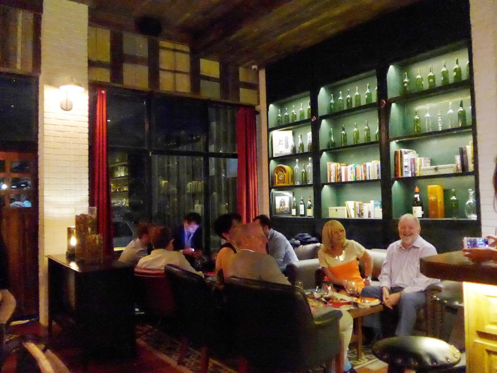 Cozy seats make Dr. Wine a great place to enjoy and unwind with friends over a glass or a bottle of wine
