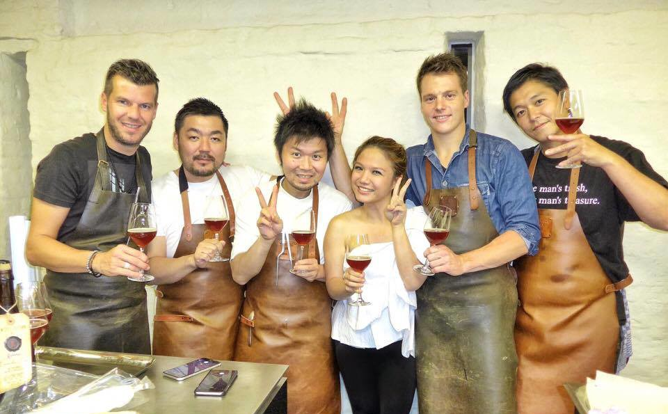 A Flemish-Japanese collaboration lunch and dinner between host Hertog Jan's Gert de Mangeleer and sous chef Jef Poppe, with with visting Tokyo-based chefs Zaiyu Hasegawa (Den) and Hiroyasu Kawate (Florilege), and Osaka-based Yusuke Takada (La Cime)