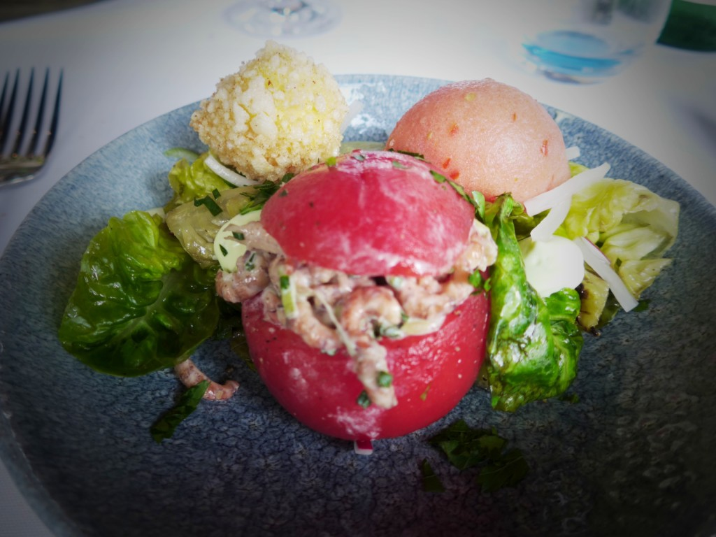 At JULIA'S OYSTER AND FISH BAR: Again stuffed inside tomatoes (Photo by Cheryl Tiu)