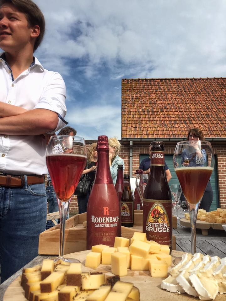 Groendal is a family-run company (that's their son, Louis-Philippe Deweer) who makes amazing cheeses. Gert de Mangeleer carries their selection at Hertog Jan here in Belgium, and likewise Albert Adria carries their Old Groendal farm cheese (beautiful umami!) at his restaurants in Spain. (Photo by Cheryl Tiu)