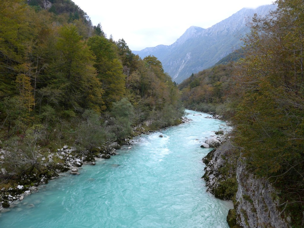 "Gorgeous, emerald green waters stream from the Soca River... exactly how it was in ""Chef's Table."" I wanted to cry... (Photo by Cheryl Tiu)"
