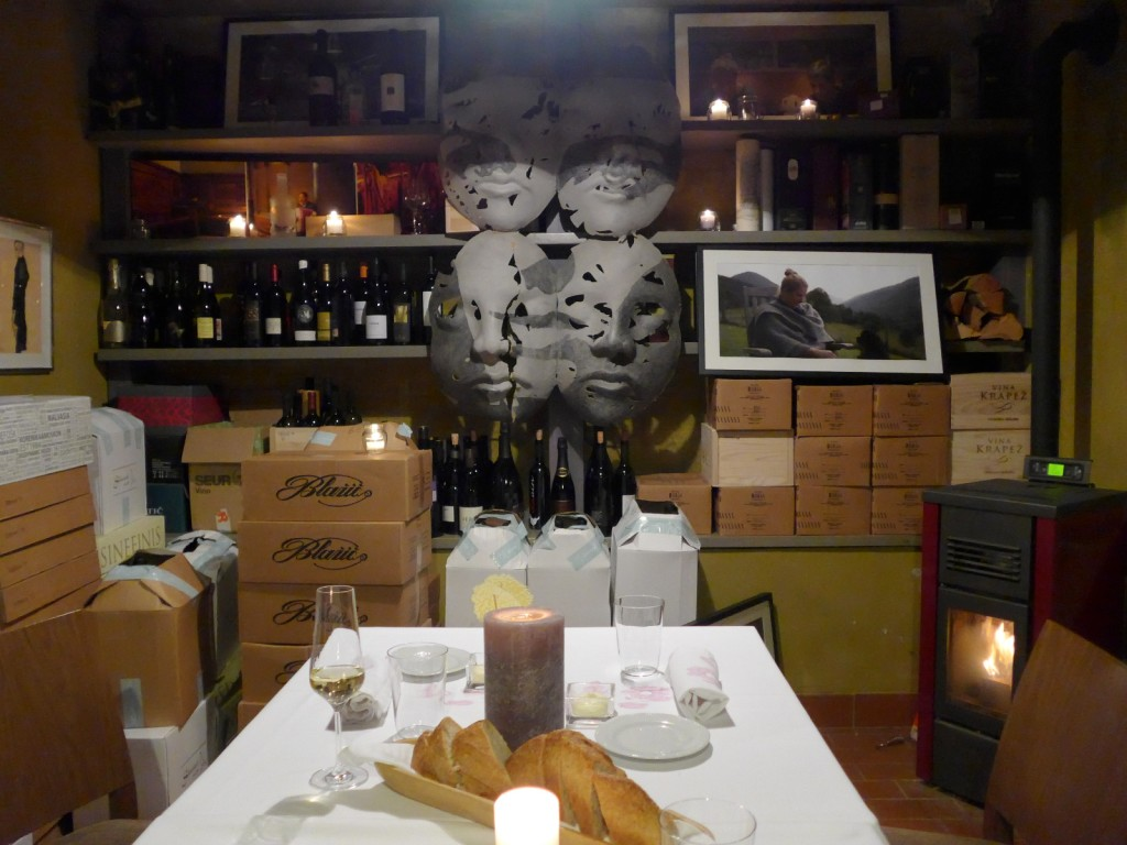 Here's a peak inside Hisa Franko's wine cellar where we had dinner the night we arrived. (Photo by Cheryl Tiu)