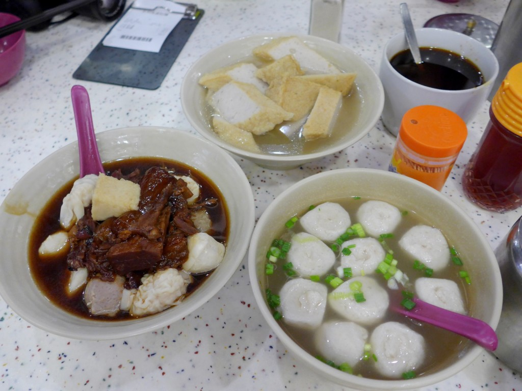 Janice also took us to a delicious noodle shop where locals frequent called On Lee Noodle Shop-- their fish balls, fish cakes and beef briskets are delicious! Come here if you're looking for something slightly off the beaten path (Photo by Cheryl TIu)