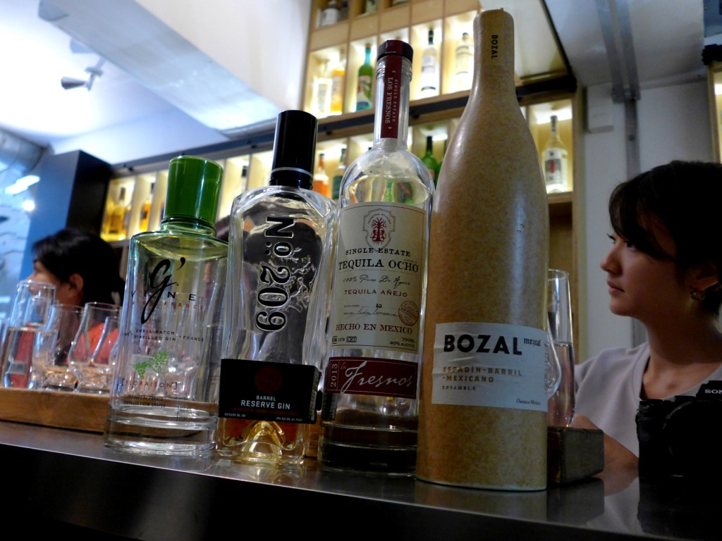 A spirits-tasting session at The Woods could run the gamut from gin to whisky to tequila to mezcal (Photo by Cheryl Tiu)