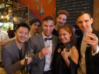 "Yesss, these awesome guys are some of the most talented chefs in Hong Kong, and the recipients of Hong Kong Tatler's 2018 T.Dining Best Restaurant Awards- Max Levy of Okra and Daniel Calvert of Belon, along with Son Pham of Co Thanh Restaurant, and the guys from Ho Lee Fook! (At our ''unofficial"" after party at La Cabane, Soho!)"