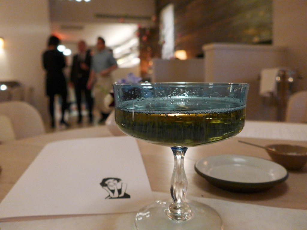 Champagne served in a coupe class, how adorable! (Photo by Cheryl Tiu)