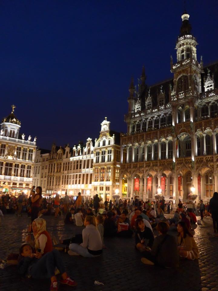 Brussels' Grand Place or Grote Markt is quite a sight to behold at night