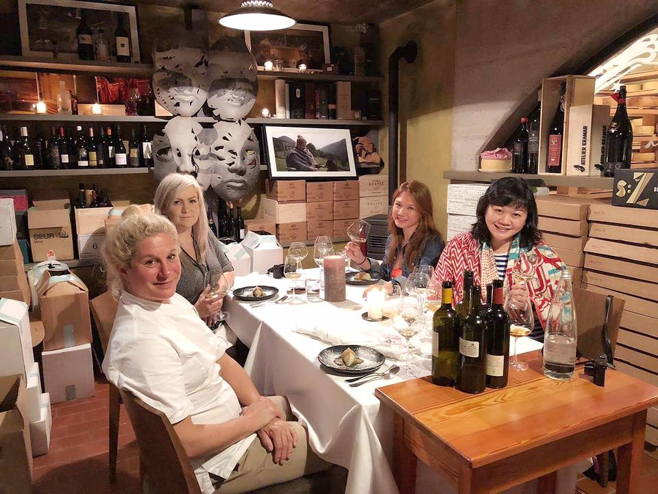It was such an honor to have the World's Best Female Chef 2017 Ana Ros cook for and eat and hang out with us at her husband Valter's private wine cellar in their restaurant Hisa Franko!! And with these awesome girls Zoe Bowker and Agnes Chee!
