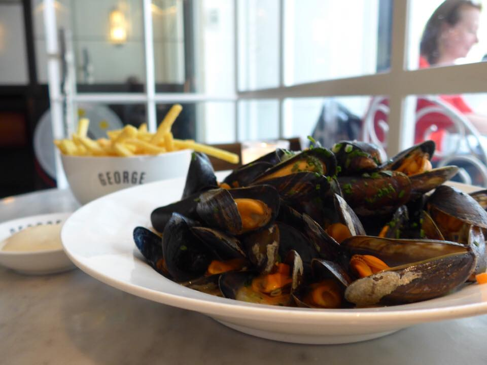 Some of the best mussels and fries I've had-- and for sure, the best in Amsterdam!-- at Cafe George