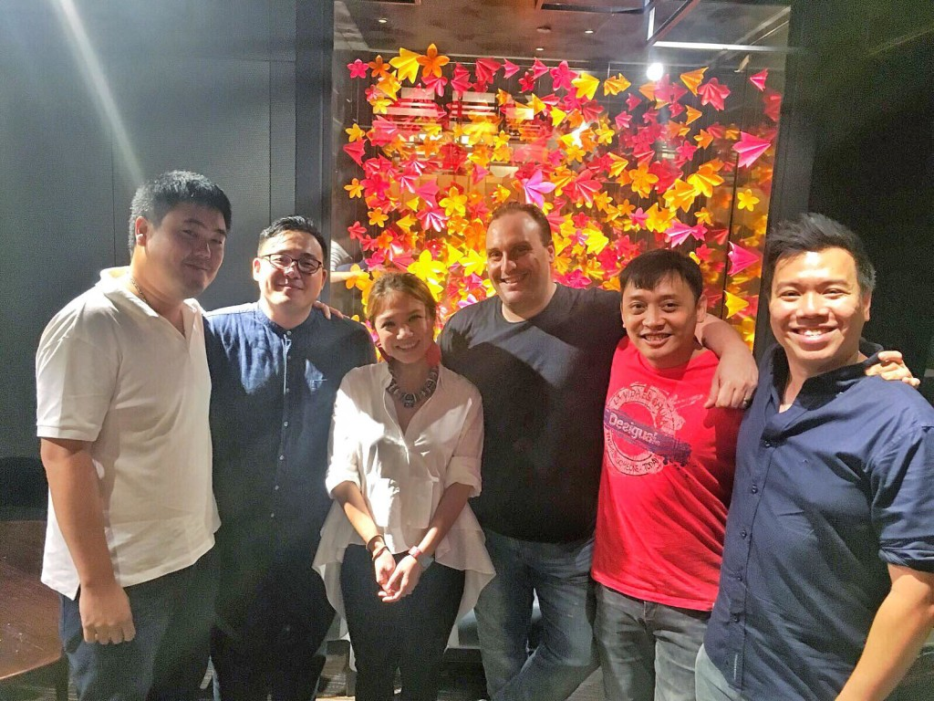 Singaporean chefs represent! Russell and I with Woo Wei Leong (Masterchef Asia winner, who will be opening a restaurant in Singapore soon!), Drew Nocente (Salted and Hung), Chanks KS, Han Liguang (Labyrinth)