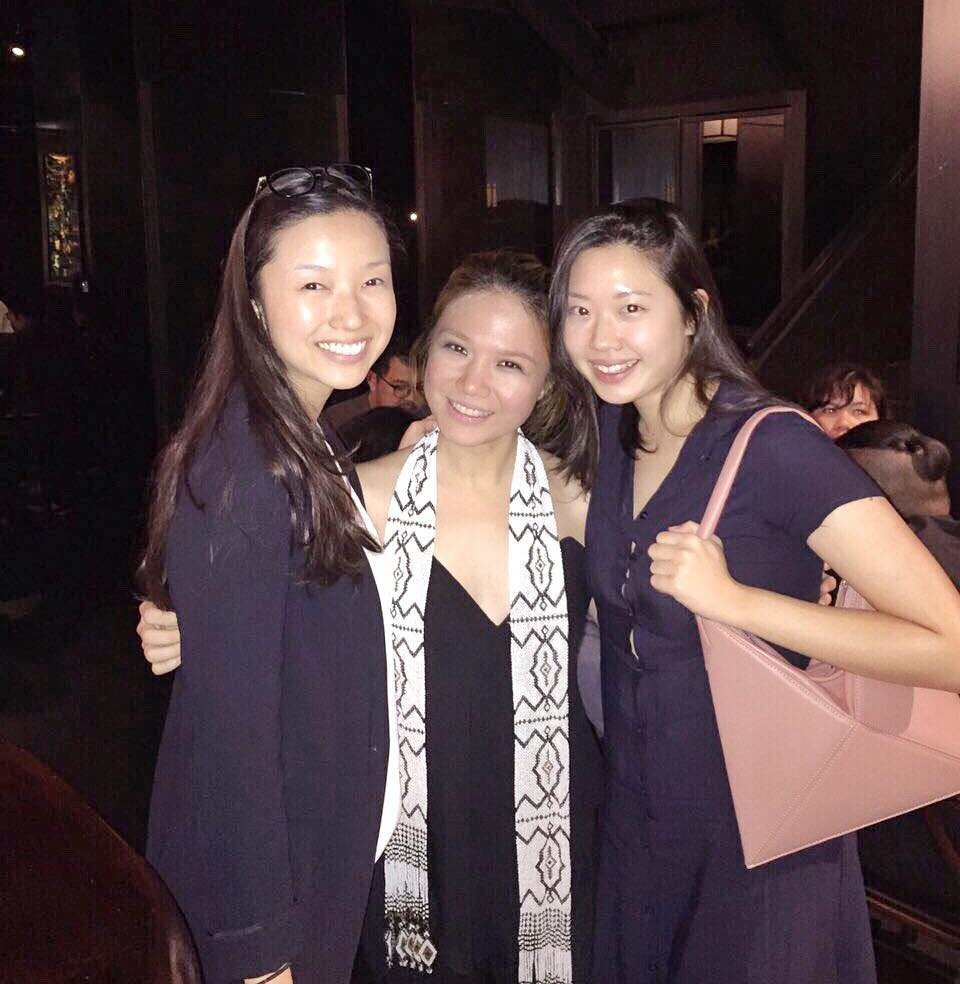 With sisters-in-law Sae Takagi and Rebecca Eu