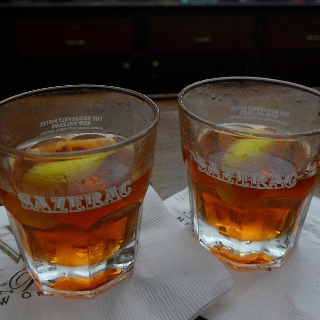 Did you know the sazerac was invented in New Orleans? Hence, imperative to have a sazerac at the Sazerac Bar where the sazerac was invented
