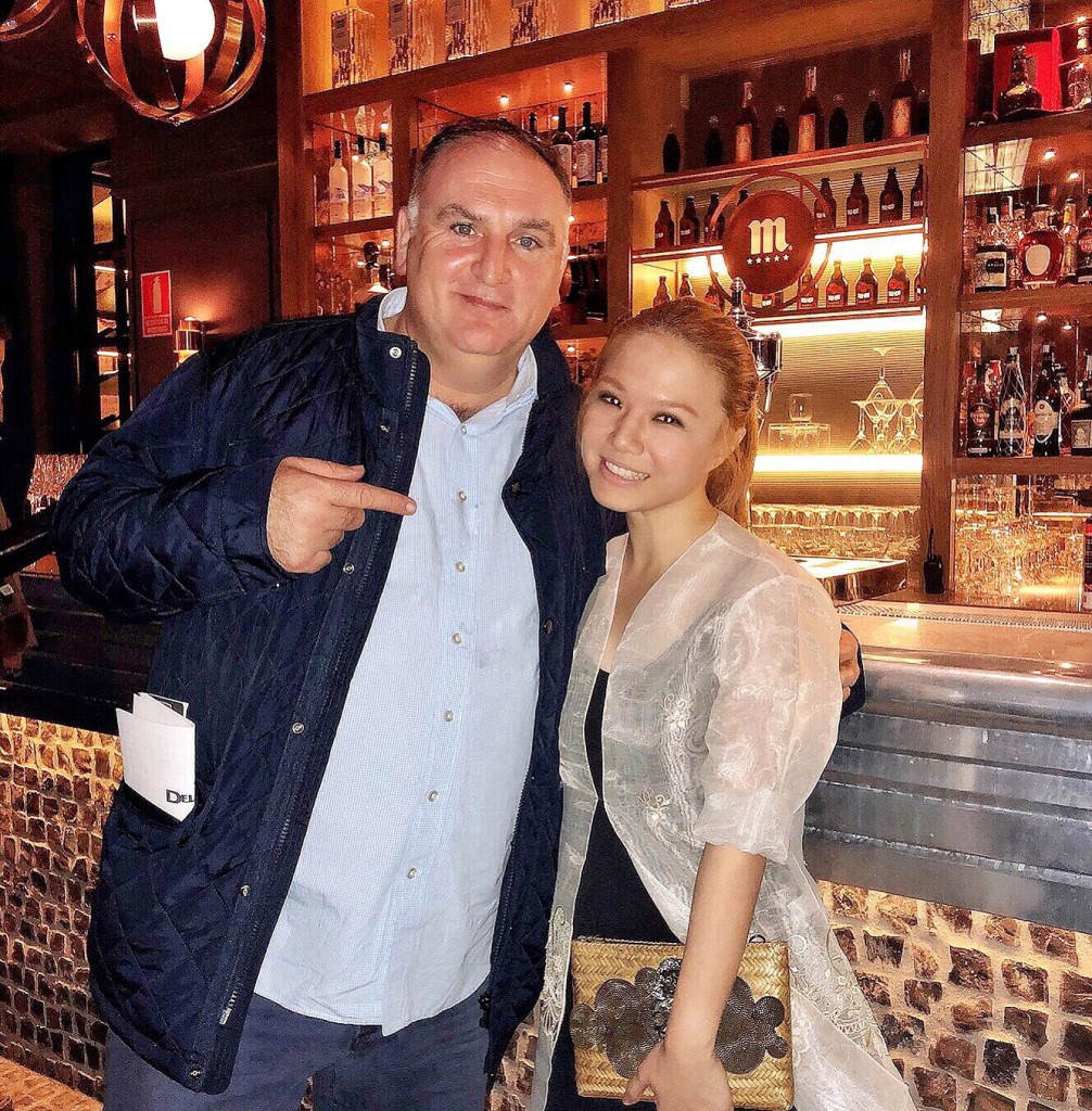 "It was so incredible meeting Jose Andres at the Philippine reception at Tatel for this year's Madrid Fusion! Apart from his restaurants, I love what he stands for— defending immigrants (""Walls will not make America safer or greater,"" he recently penned in an op-ed piece for the Washington Post); cooking to give back— most recently for the Montecito mudslide in California, and the hurricane in Puerto Rico; giving free sandwiches to government employees after the US government shut down a few days ago...He hasn't been to the Philippines yet but he told me his brother married a lovely Filipina."