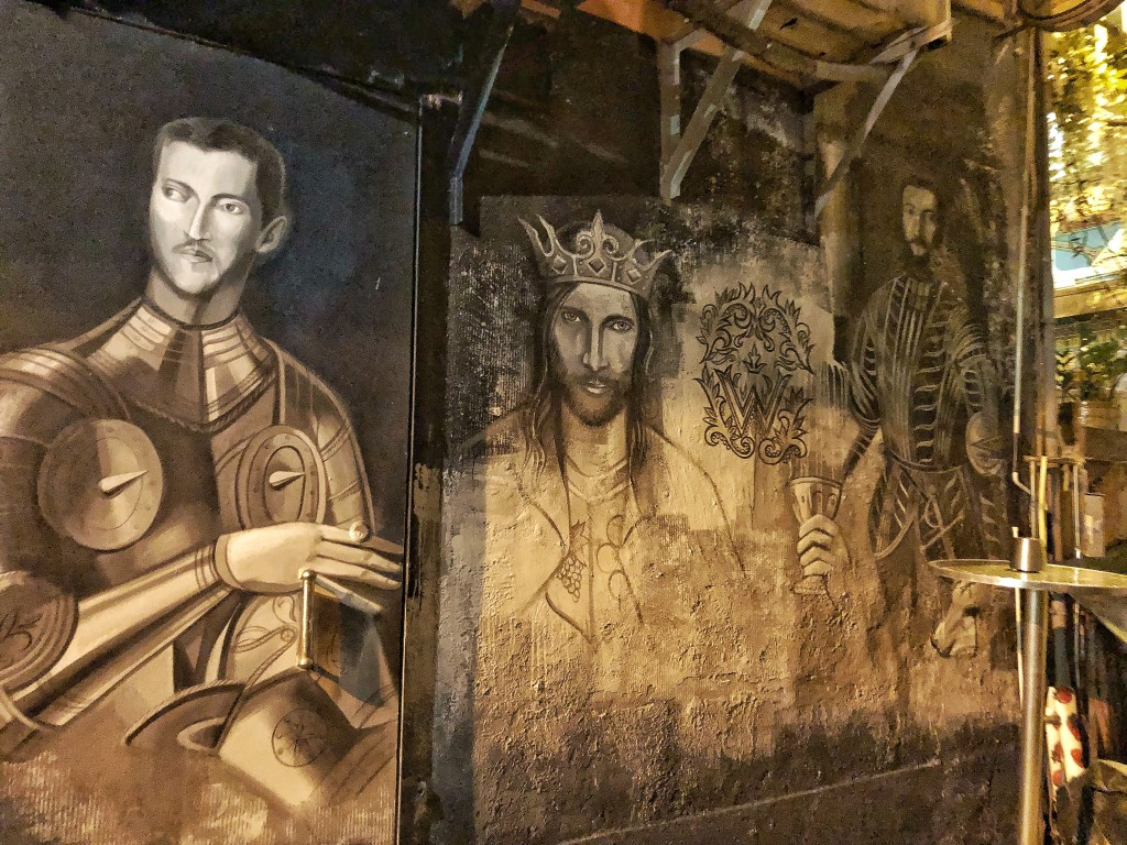 You know you've arrived when you spot this graffiti of the three kings on Tsung Wing Lane, just off Staunton Street. (Photo by Cheryl Tiu)