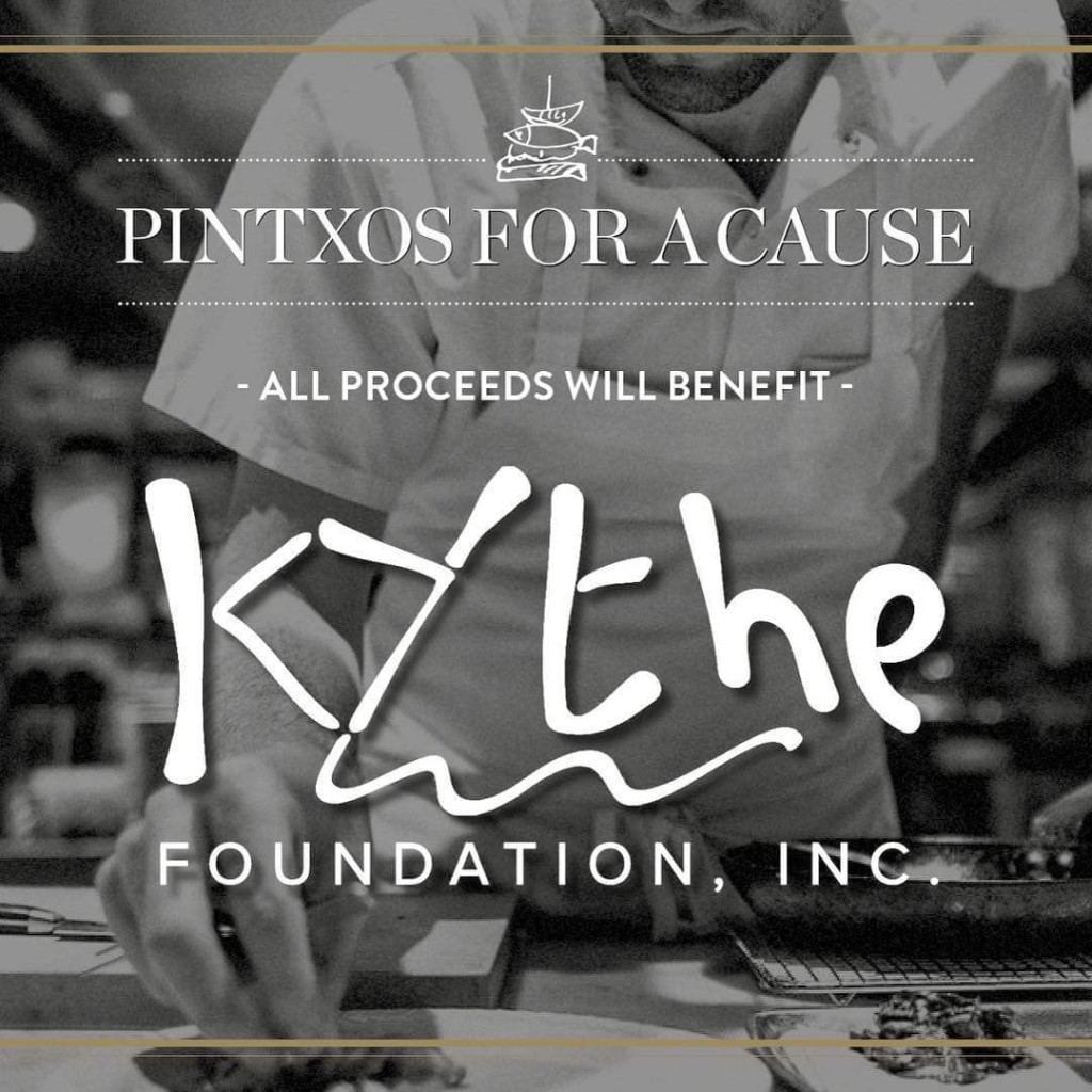 All proceeds from Pintxos For A Cause will benefit Kythe Foundation